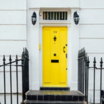 Image of yellow front door to represent students leaving home.