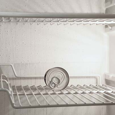 Empty your fridge before you move