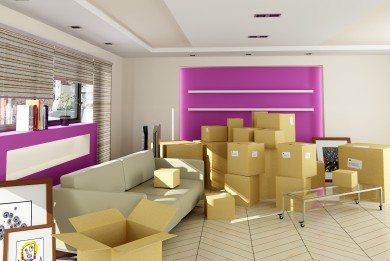 Living rooms with removal boxes within