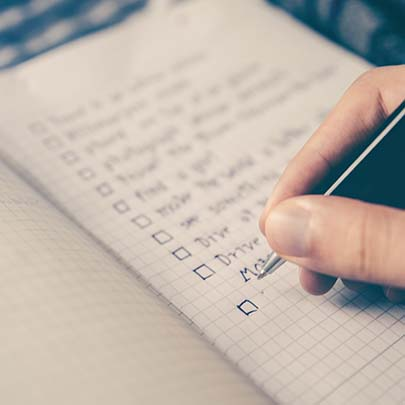 Create a simple checklist for moving house and work through the items